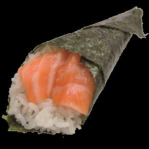 Хенд ролл с лососем