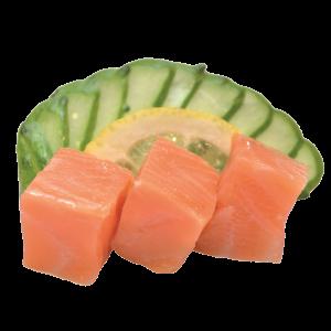 Сашими с копченым лососем
