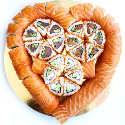 Суші торт Валентинка