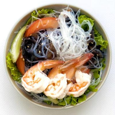 Тайський салат з креветками та локшиною/Ям Вун Сен Кунг
